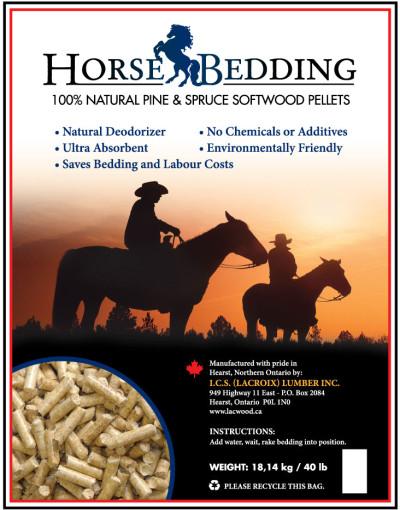 Horse Bedding Pellets - LacWood Premium Wood Pellets