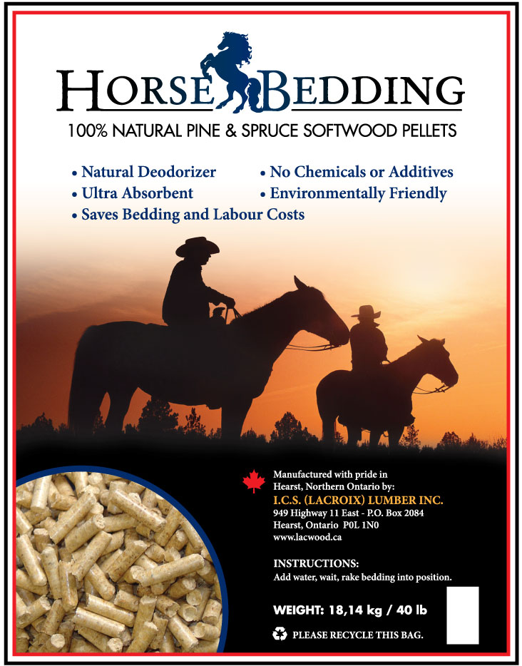 Horse Bedding Pellets - LacWood Premium Wood Pellets