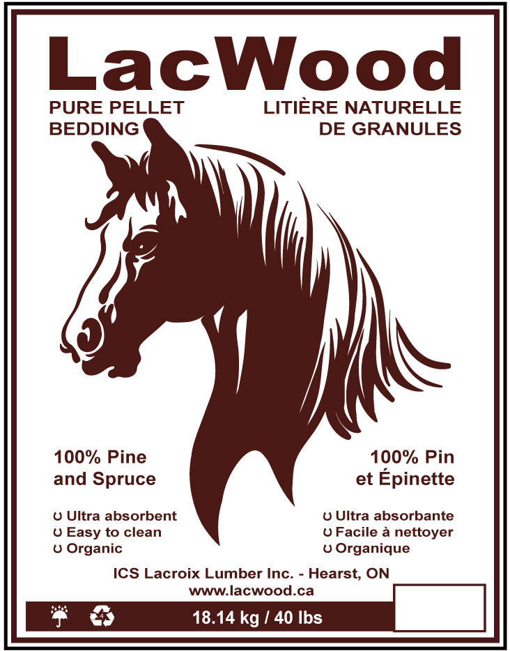 LacWood Horse Bedding Wood Pellets
